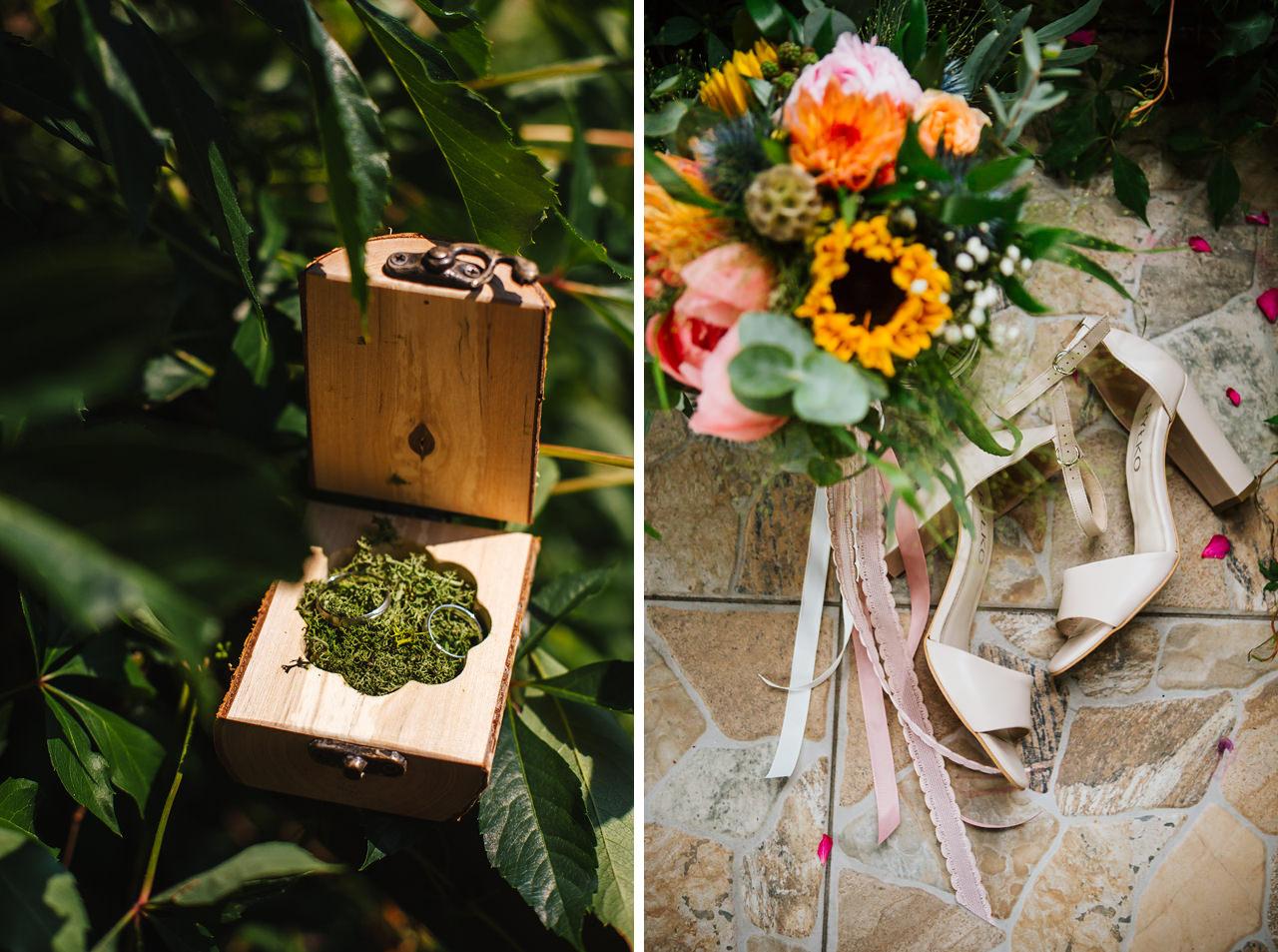rustykalne dodatki na ślub